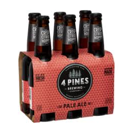 4 Pines Pale Ale Bt 330ml 24pk-Pack(6)