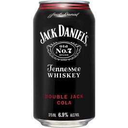 Jack Daniels Double Jack & Cola Cans 24pk 375ml
