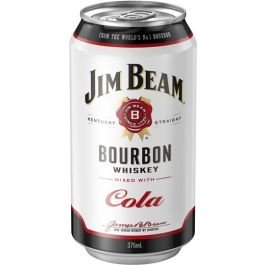 Jim Beam White & Cola Cans 375ml 24pk