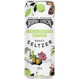 Brookvale Union Lime & Orange Bitters Boozy Seltzer