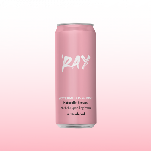 Hop Nation Ray Watermelon & Mint Seltzer 4.5% Can 330ml 16pk-Pack(4)